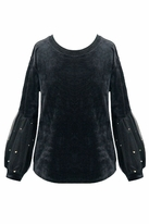 Truly Me Long Sleeves Girls Sweater w/Gold Beads 8 10