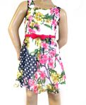 "Truly Me ""Phoebe""  Fit & Flare Floral Bow Belt Dress 6x"