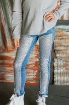 Truly Me Stone Wash Girls Jeans w/Sequin Insets *Top Seller*  14