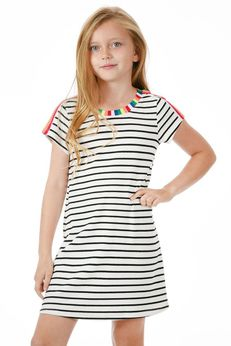 Truly Me Striped Tween Tank Dress w/Colorful Details pre-order