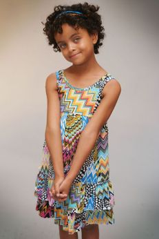 Truly Me  Beautiful Zig Zag Ruffle  Girls Dress  4