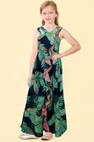 Truly Me Tropical Floral Beautiful Girls maxi Dress