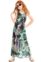 Truly Me Tropical Floral Beautiful Girls maxi Dress  8 12 14