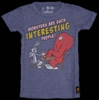 """Trunk Kids Boy's Toddler Tee """"Monsters are Such Interesting People"""" Bugs Bunny 2 3"""