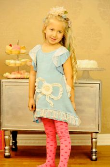 "Twirls & Twigs ""Pirhouettes in Paris"" Vintage Inspired Girl's Dress  2t"
