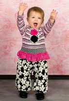 "Zaza Couture ""Lichtenstein"" Sweet 1pc Baby Girl Romper Outfit  18M"