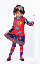 "Zaza Couture ""Matisse"" 3pc Jumper Dress, Top & Tights Set 3T"