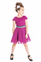 Zoe Ltd Berry Color Stunning Girls Skater Dress