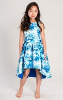 Zoe Ltd Blue China Floral Hi Low Tween Party Dress 10 Last 1