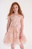 Zoe Ltd  Blush & Gold Shimmery Tulle Tween Dress  12 14
