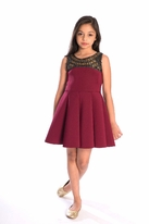 Zoe Ltd  Beaded Neckline Swing Tween Party Dress 10 14