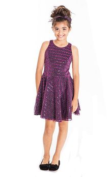 Zoe Ltd Sparkly Fit and Flare Girls Tween Party Dress *Top Seller*
