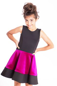 Zoe Ltd Pink & Black Velvet & Neo Swing Girls Dress *Top Seller*