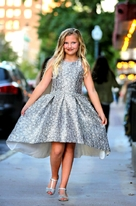 Zoe Ltd  Girl's Shelley Web Brocade Hi Lo Dress Graduation  Dance 14