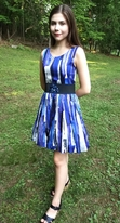 "Zoe Ltd Royal Blue ""Paint the Town"" Our Favorute Tween Party Dress  16"
