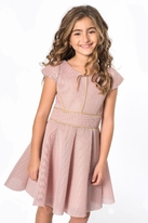 Zoe Ltd Tween Dusty Pink & Gold Dance Tween Dress *Top Seller*