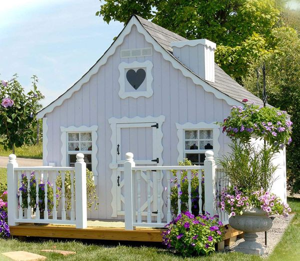 little cottage co gingerbread playhouse diy kit 8 x 8 rh ecanopy com little cottage company greenhouse little cottage country