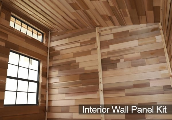 & Outdoor Living Today 12x8 Studio Garden Shed Interior Wall Paneling