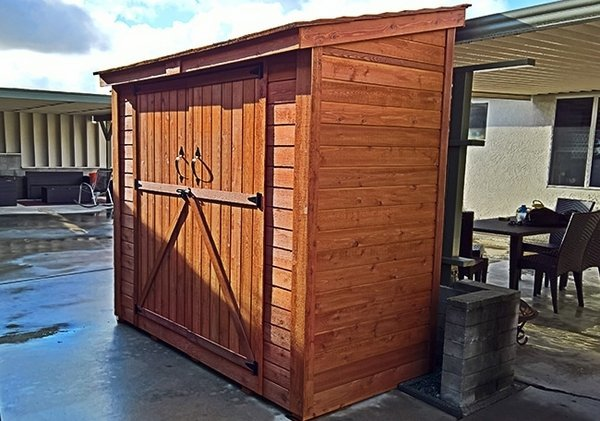 outdoor living today 8x4 spacesaver lean to shed with double doors