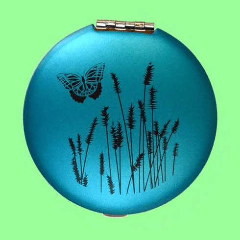 Blue Butterfly Compact
