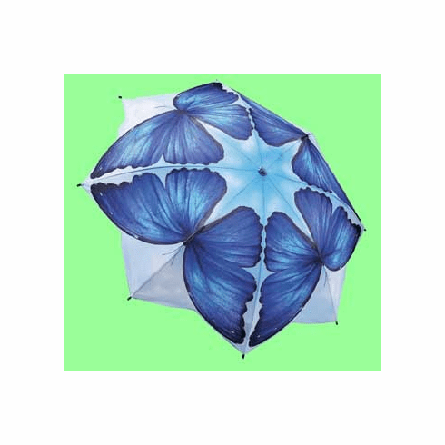 Blue Morpho Folding Umbrella