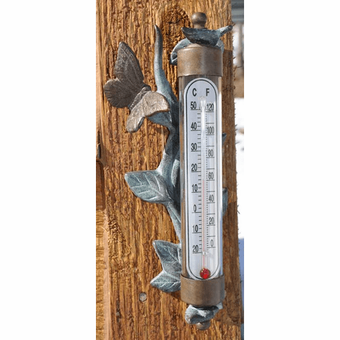 Brass Butterfly Thermometer