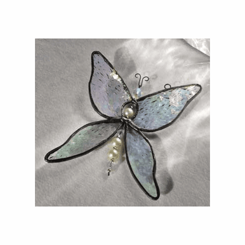 Butterfly Art Glass Suncatcher