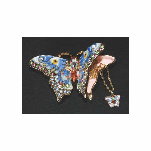 Butterfly Jewel Box with Necklace