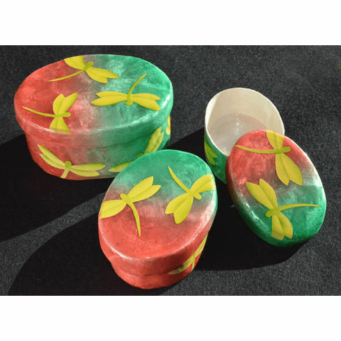 Capiz Dragonfly Nesting Boxes, Set of 3