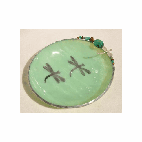 Double Dragonfly Glass Bowl