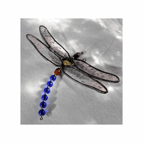 Dragonfly Art Glass Suncatcher