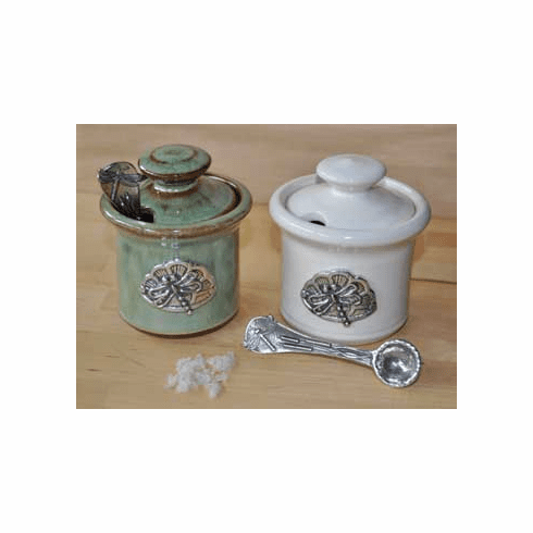 Dragonfly Ceramic Salt Cellar, Cream