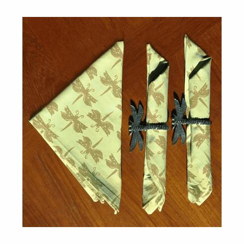 Dragonfly Cotton Napkins, Set of 4
