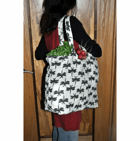 Dragonfly Jute Tote