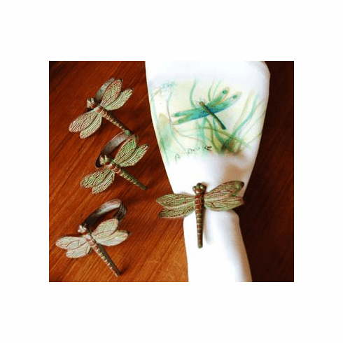 Dragonfly Napkin Rings, Set of 4