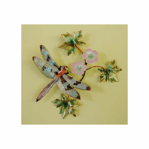 Dragonfly on Dogwood Wall Sculpture