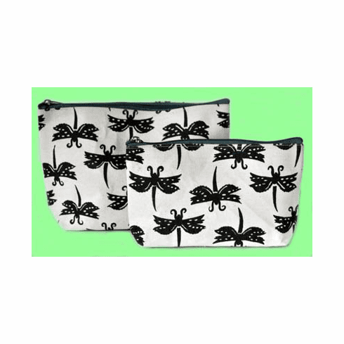 Dragonfly Zip Bag Duo, Set of 2