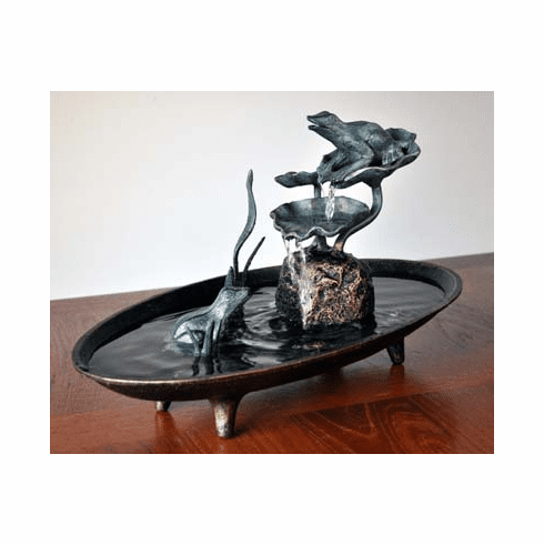 Frog Afternoon Table Fountain