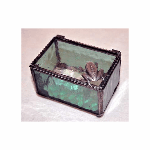 Frog Art Glass Box