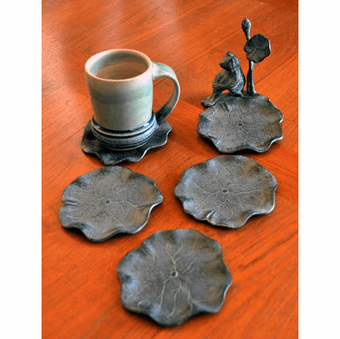 Frog & Lilypad Coasters, Set of 5