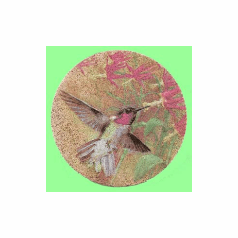 Hummingbird Sandstone Coasters, Set/4