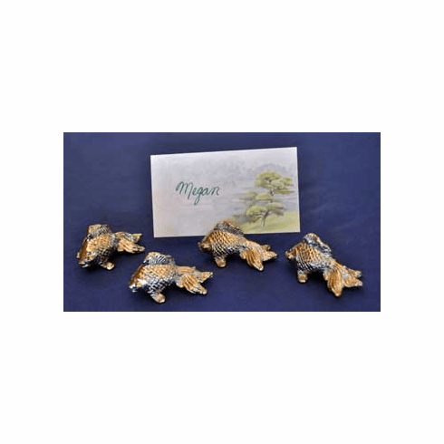 Koi Placecard Holders, Set of 4