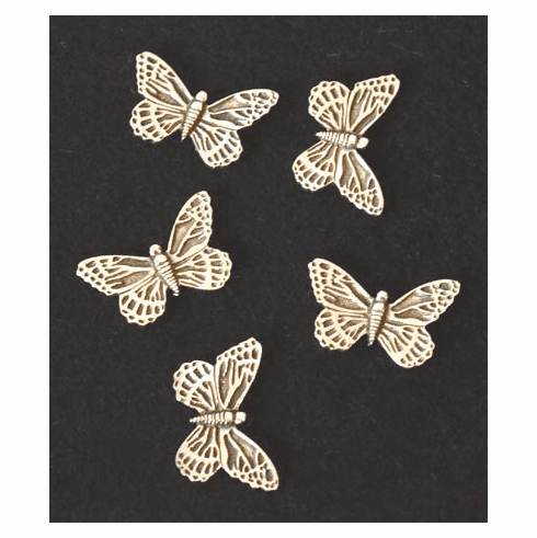 Pewter Butterfly Pocket Change, Set of 5