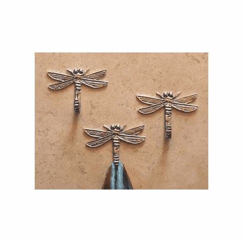 Pewter Dragonfly Hooks, Set of 3