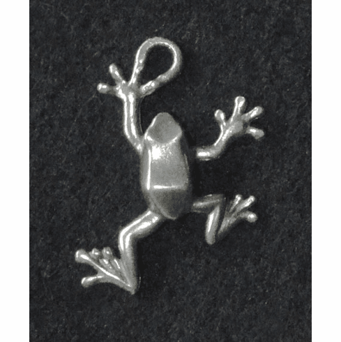 Pewter Frog Charm