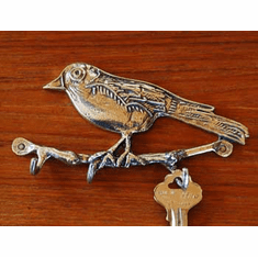 Pewter Robin Key Rack