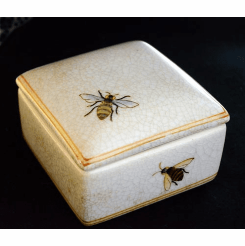 Porcelain Honey Bee Box