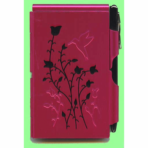 Raspberry Hummingbird Flip Notes