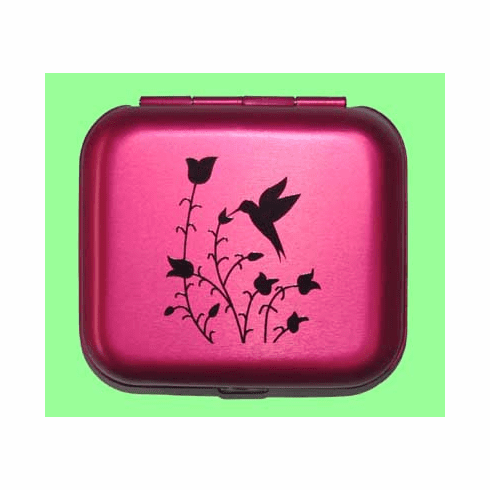 Raspberry Hummingbird Pill Box