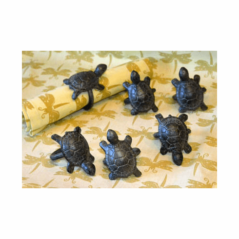 Turtle Napkin Rings, Set of 6